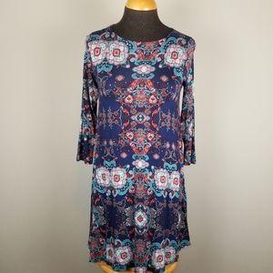 NWT: Hourglass Lilly boho stretchy dress, S / XS